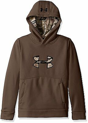Under Armour ICON CALIBER HOODIE BROWN Boys size Large 14/16 Sweatshirt NWT