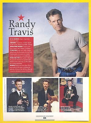 """Randy Travis, Country Music Star in 2014 Magazine Clipping, """"Jack of All Trades"""""""