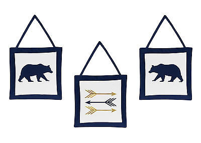 Arrow Wall Art Decor Hangings For Sweet Jojo Navy Boys Kids Forest Bear Bedding
