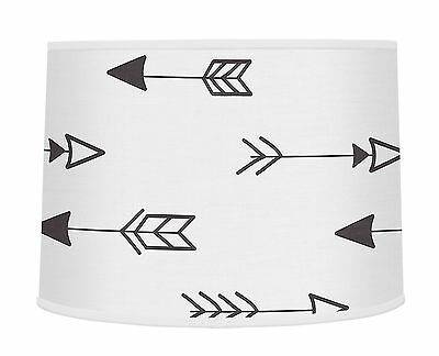 Arrow Lamp Shade For Sweet Jojo Designs Black And White Fox Bedding Set Decor