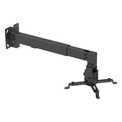 Universal Projector Wall or Ceiling Mount Bracket Tilt DLP LCD - 44 lbs - Black