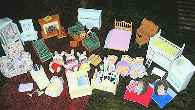 Huge Lot of Calico Critters, Sylvanian Families Pets, Furniture &  Accessories