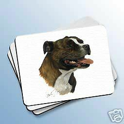 STAFFORDSHIRE BULL TERRIER Dog MOUSE PAD May Mousepad