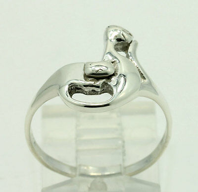 954f282b4 Vintage Sterling Silver Double Cat Band Ring Size 7.5