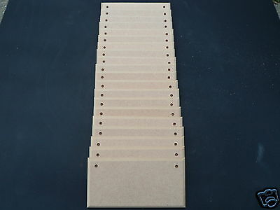"15  MDF CRAFT PLAQUES WITH WITHOUT HOLES 6""X3"" X 3mm BEST PRICE ON EBAY FREE P&P"