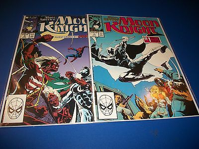 Marc Spector: Moon Knight #1,2 Key Lot of Nice Comic Books F to VF Spider-man!