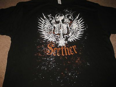 Rare Seether 2012 Concert Tour XL Black Shirt - Authentic T-Shirt