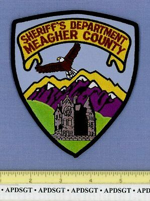 MEAGHER COUNTY SHERIFF'S DEPT MONTANA MT Police Patch STONE MANSION HOUSE