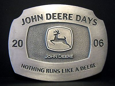 John Deere Days 2006 Leaping Deer Logo Dealer Pewter Belt Buckle C Francis Group