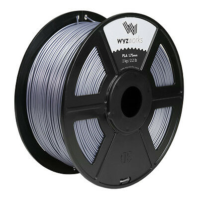 WYZwork 3D Printer Premium PLA Filament 1.75mm 1kg/2.2lb - Silver