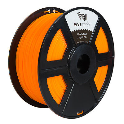 WYZwork 3D Printer Premium PLA Filament 1.75mm 1kg/2.2lb - Translucent Orange