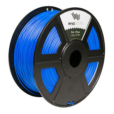 WYZwork 3D Printer Premium PLA Filament 1.75mm 1kg/2.2lb - Blue
