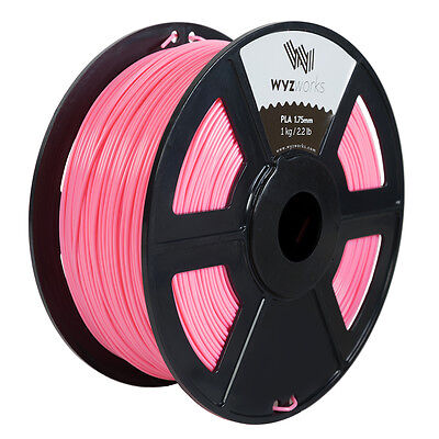 WYZwork 3D Printer Premium PLA Filament 1.75mm 1kg/2.2lb - Pink
