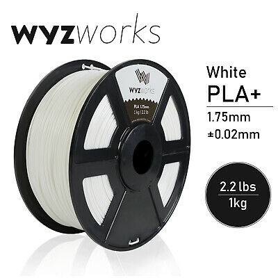 WYZwork 3D Printer Premium PLA Filament 1.75mm 1kg/2.2lb - White