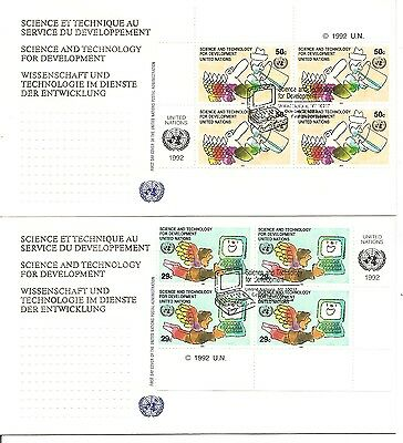 UN / New York SC # 611-612 Science And technology FDC. Inscription BLK4