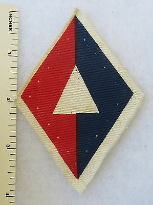 Printed OLDER Vintage BRITISH ARMY 1st DIVISION ARTILLERY FORMATION SIGN PATCH