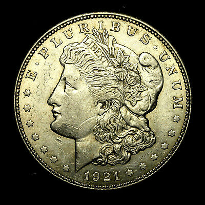 1921 D ~**ABOUT UNCIRCULATED AU**~ Silver Morgan Dollar Rare US Old Coin! #871