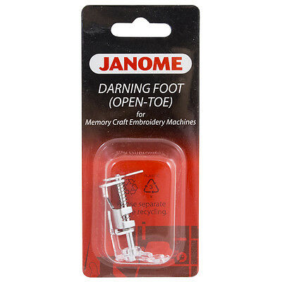 Genuine Janome Darning Foot (Open Toe) for Memory Craft - Free Motion Quilting