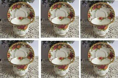 Wholesale Lot of 6 - Royal Albert Old Country Roses Bone China Tea Cup & Saucer