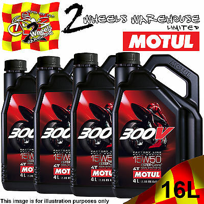 1L 2L 3L 4L 8L 12L 16L Motul 300V 15W50 Factory Line Road Racing Ester Core Oil