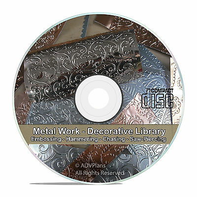 Decorative and Art Metal Work Embossing Repousse Research Guides CD DVD V74