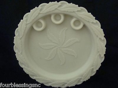 Imperial Glass White Milk Glass Round Candle Holder/platter/bowl/dish/centerpiec