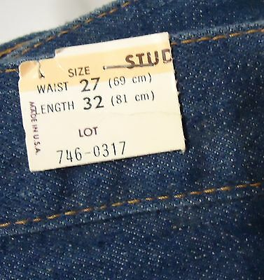 "VTG NOS Unworn 70s Levi's ""Bell Bottom"" Jeans Student 27x32 USA Measure 28 x30.5"