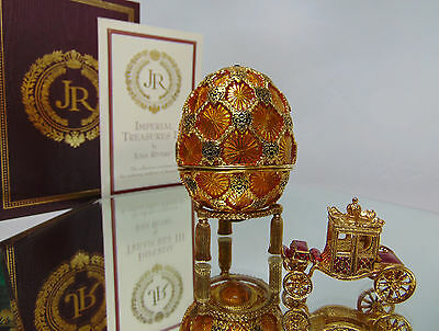 NEW Joan Rivers Imperial Treasures III CORRONATION EGG GOLD CARRIAGE & STAND NIB