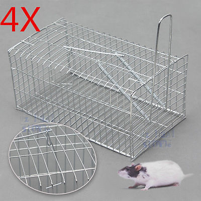 4x Rat Mouse Trap Single Live Catch Mice Galvanised Mesh Wire Humane Safe Animal