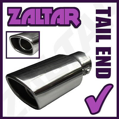 Mesh Sports Chrome Exhaust Muffler Big End Tip Trim Tail Pipe Fit 56Mm