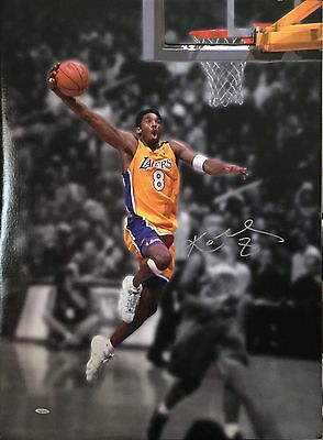 "Kobe Bryant Signed 24""x 32"" Lakers Basketball Canvas Upper Deck #43/108"