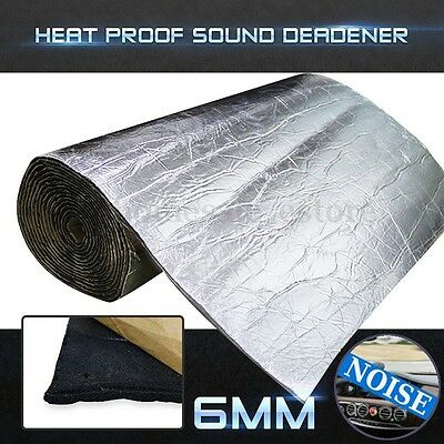 64sqft 6mm Sound Deadener Car Heat Shield Insulation Deadening Material Mat New