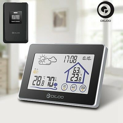 Digoo In&Outdoor Wireless Touch Thermometer Hygrometer Weather Station + Sensor