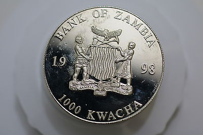 Zambia 1000 Kwacha 1998 Crown Size Proof Like A67 #4686