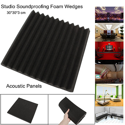 """12 Pack Acoustic Foam Panel Wedge Studio Soundproofing Wall Tiles 12''X12''X1"""""""
