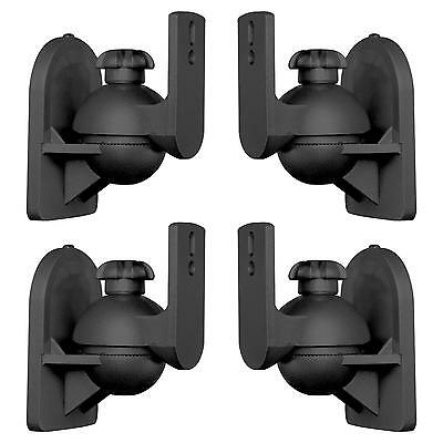 PACK 4 Soportes Altavoces Universal Articulables Inclinables peso 3,5 kg Negros