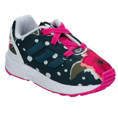 Infant Girls adidas Originals Zx Flux Print Trainers In Pink From Get The Label