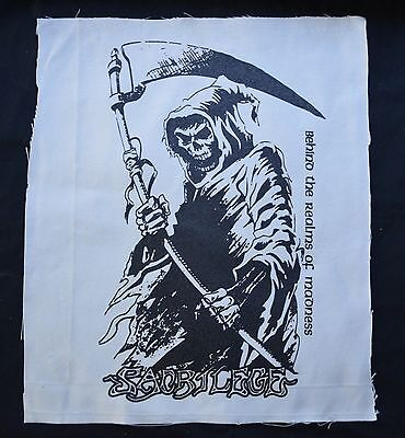 SACRILEGE behind the realms of madness BACK PATCH amebix discharge hellbastard