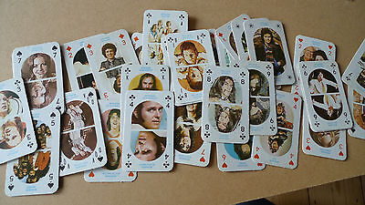 40 x Vintage 1970s Hitmakers Playing Cards Osmonds Alice Cooper Bay City Rollers