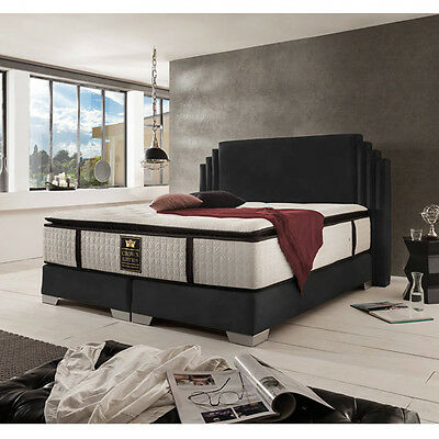 boxspringbett king size bett hotelbett 180x200 cm kunstleder braun eur 1 00 picclick de. Black Bedroom Furniture Sets. Home Design Ideas