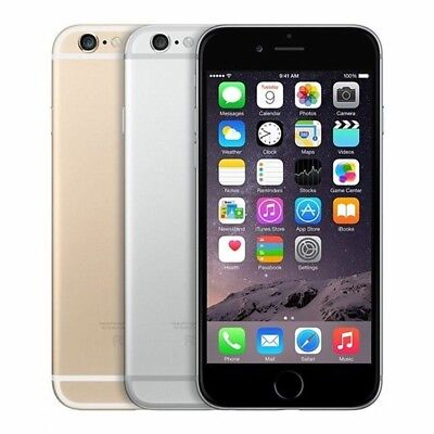 AS NEW APPLE iPHONE 6 iPHONE  16 64 128GB 100% UNLOCKED GOLD SILVER SPACE GREY