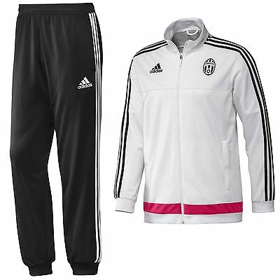 adidas JUVENTUS FULL PRESENTATION TRACKSUIT WHITE BLACK ACTIVE FITNESS FOOTBALL