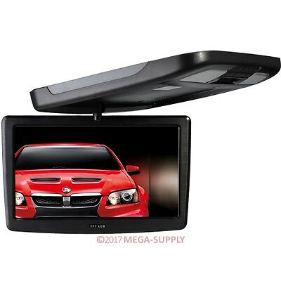 "12"" HD Flip Drop Down Monitor Camper Van Car 2CH AV In IR For DVD Player Display"