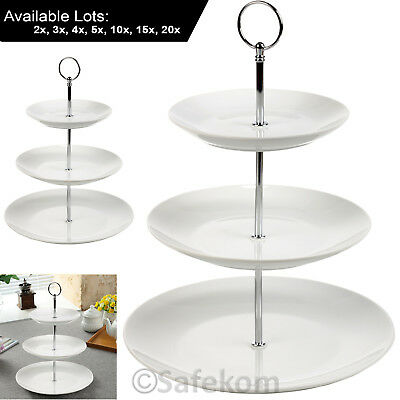 3 Tier Cakes Stand White Porcelain Cake Stand Food Serving Platter Cupcake Stand