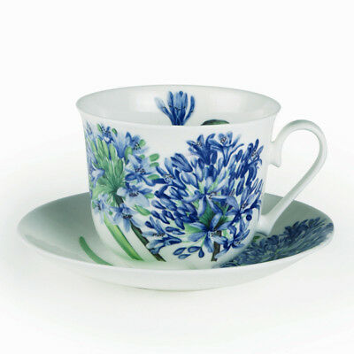 Roy Kirkham Breakfast Cup and Saucer Agapanthus Floral Tea Drinks Home Dining