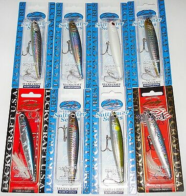 Lucky Craft Gunfish 95 Superficie Topwater Mar Señuelo Pesca Japan Cebo Duro