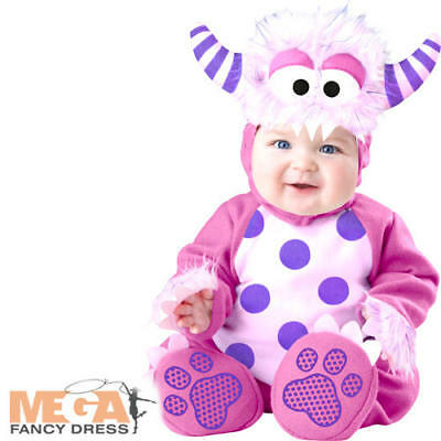 Pink Monster Baby Fancy Dress Halloween Scary Girls Toddlers Infants Costume New