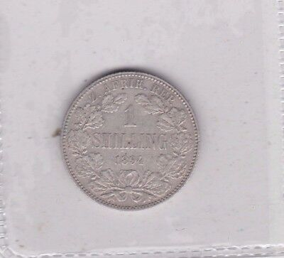 South Africa 1894 Kruger Silver Shilling In Very Fine Condition