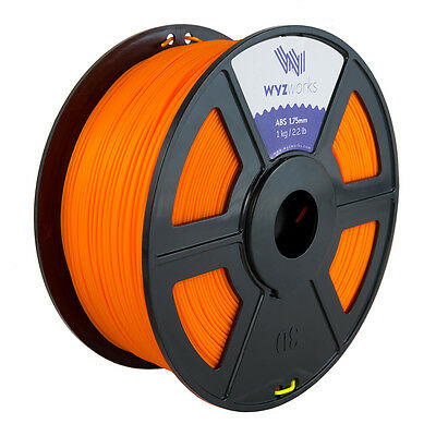 WYZwork 3D Printer Premium ABS Filament 1.75mm 1kg/2.2lb - Fluorescent Orange