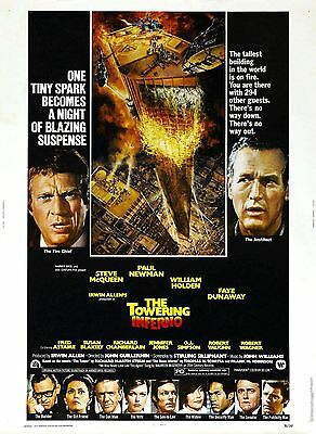 The Towering Inferno Laminated Mini Movie Poster Newman Redford